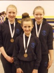 Fiona, Codie and Emma Bronze Medal winners