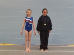 Holly Mardle wins gold at Tumble Comp - National 1 11-12yrs