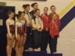 Grade 3 WG of Laura Mcmillan, Sarah Finlay and Holly Kelly win bronze in Balance