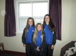 Codie, Hollie and Keavy representing Scotland